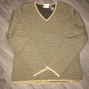 Liz Claiborne V-Neck Cotton Sweater